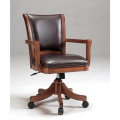 Park View Caster Game Chair, Medium Brown Oak