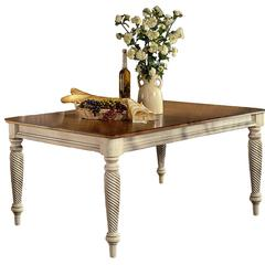 """Wilshire Rectangle Dining Table w/Two 18"""" Leaves,"""
