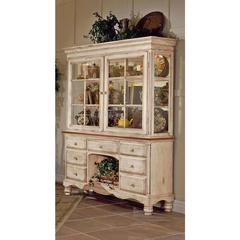 Wilshire Buffet and Hutch, Antique White