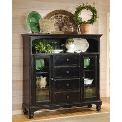 Wilshire Four-Drawer Baker's Cabinet, Rubbed Black