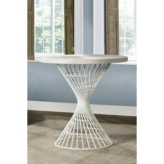 Kanister Round Counter Height Dining Table - White Finish
