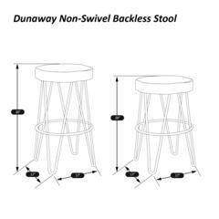 Dunaway Non-Swivel Counter Height Stool, Gray