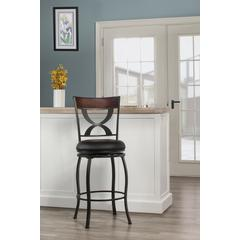 Stockport Swivel Counter Height Stool, Pewter