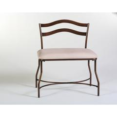 Windsor Vanity Bench, Burnished Bronze