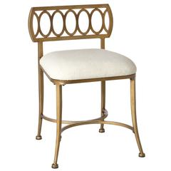 Canal Street Vanity Stool, Gold Bronze