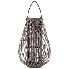 "Bamboo  Lantern Weathered Finish Taupe 23.5"""