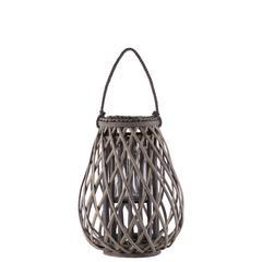 "Bamboo  Lantern Weathered Finish Taupe 15.75"""