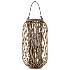 "Bamboo  Lantern Natural Finish Brown 23.5"""