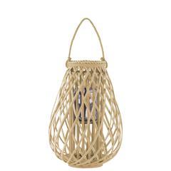 "Bamboo  Lantern Natural Finish Brown 19.5"""
