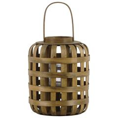 """Wood  Lantern Natural Finish Brown 15"""""""