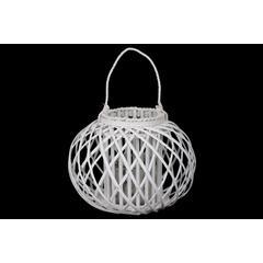 """Bamboo  Lantern Coated Finish White 13"""""""