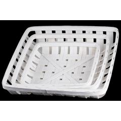 Wood Square Tobacco Basket with Lattice Design Set of Three