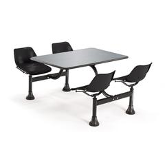 Cluster Table with Stainless Steel Top - 24 x 48, Black