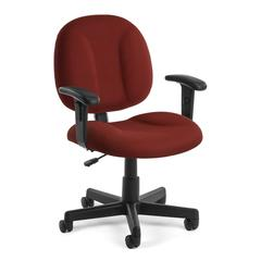 OFM Comfort Series Superchair with Arms, Wine