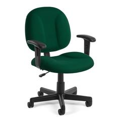 Comfort Series Superchair with Arms, Green