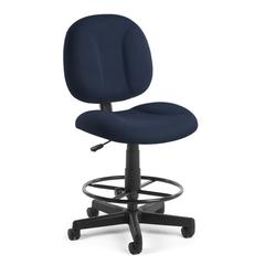 OFM Comfort Series Superchair with Drafting Kit, Navy