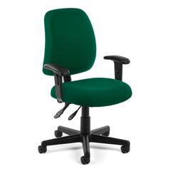 Posture Task Chair with Arms, Green