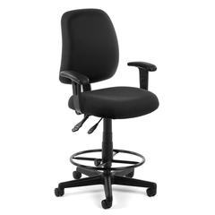 Posture Task Chair with Arms and Drafting Kit, Black
