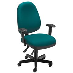 OFM Ergonomic Sliding Seat Computer Task Chair - ComfySeat™, Teal