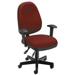 Ergonomic Sliding Seat Computer Task Chair - ComfySeat™, Wine
