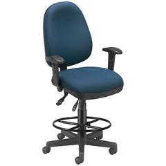 Ergonomic Sliding Seat Computer Task Chair with Drafting Kit - ComfySeat™, Navy
