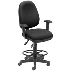 OFM Ergonomic Sliding Seat Computer Task Chair with Drafting Kit - ComfySeat™, Black