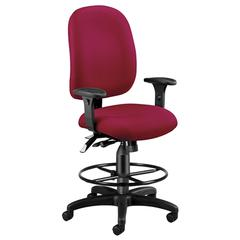 Ergonomic Executive/Computer Task Chair with Drafting Kit - ComfySeat™, Wine
