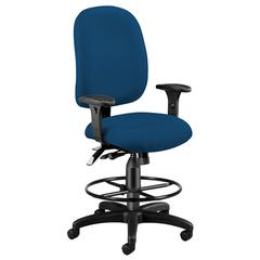 OFM Ergonomic Executive/Computer Task Chair with Drafting Kit - ComfySeat™, Navy