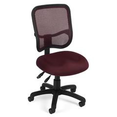 Comfort Series Ergonomic Mesh Task Chair - ComfySeat™, Wine