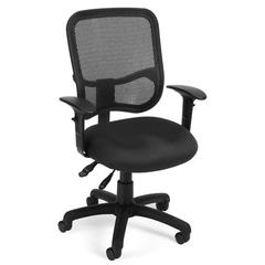 Comfort Series Ergonomic Mesh Task Chair with Arms - ComfySeat™, Black