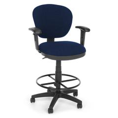 Lite Use Computer Task Stool with Arms and Drafting Kit