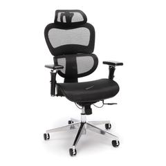 Core Collection Ergo Mesh Office Chair with Head Rest for Computer Desk, Black