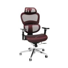 Core Collection Ergo Mesh Office Chair with Head Rest for Computer Desk, Burgundy