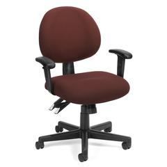 OFM 24 Hour Computer Task Chair with Arms, Burgundy