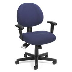 24 Hour Computer Task Chair with Arms, Blue