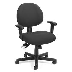 24 Hour Computer Task Chair with Arms, Charcoal