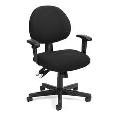 24 Hour Computer Task Chair with Arms, Black