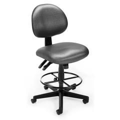 OFM Elements 24 Hour Task Chair with Drafting Kit, Olympus Beluga