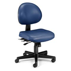 OFM 24 Hour Anti-Microbial Vinyl Computer Task Chair, Navy