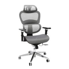 Core Collection Ergo Mesh Office Chair with Head Rest for Computer Desk, Gray