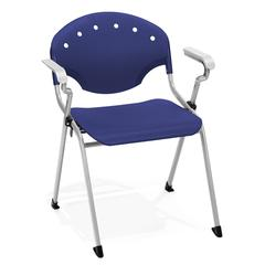 Rico Stack Chair with Arms, Navy