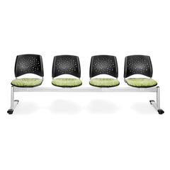 OFM Elements Stars 4-Unit Beam Seating with 4 Seats, Idiom Green Thumb