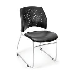 OFM Stars Stack Vinyl Chair, Charcoal
