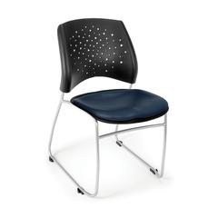 Stars Stack Vinyl Chair, Navy