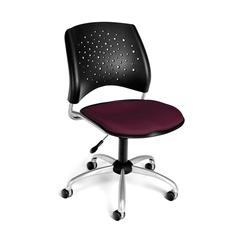 Stars Swivel Chair, Burgundy
