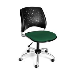 OFM Stars Swivel Chair, Forest Green
