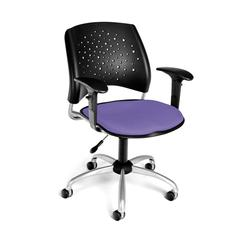 Stars Swivel Chair with Arms, Blue