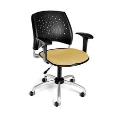 Stars Swivel Chair with Arms, Golden Flax