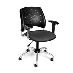 Stars Swivel Chair with Arms, Graphite