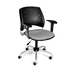OFM Stars Swivel Chair with Arms, Putty